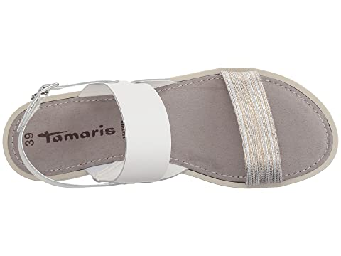 Sale Clearance Recommend Sale Online Tamaris Leni 1-1-28607-20 White Leather Combo Buy Cheap Really Sale Collections Fast Delivery AIXm1GH