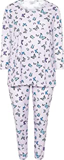 Yours - Lilac Butterfly Lounge Set - Women's - Plus Size Curve