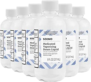 Amazon Brand - Solimo Medicated Vaporizing Steam Liquid Cough Suppressant, 8 Fluid Ounce (Pack of 6)