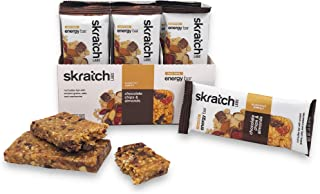 SKRATCH LABS Anytime Energy Bar, Chocolate Chip and Almonds, (12 pack single serving) Natural, Low Sugar, Gluten Free, Veg...