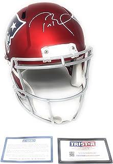 34794fb20a1c3 Tom Brady New England Patirots Signed Autograph Full Size Blaze Speed  Helmet Tristar Authentic & Steiner