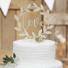 Wooden Love Cake Topper