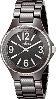 Invicta Men's 1186 Black Dial Brown Ceramic Watch