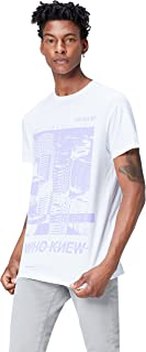 Marca Amazon - find. Camiseta con Estampado para Hombre