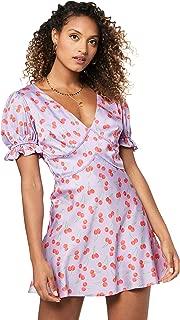 Finders Keepers Women's Valentina Mini Dress, Lilac Cherry