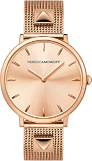 Rebecca Minkoff Women's Quartz Watch with Stainless Steel Strap, Rose Gold, 16 (Model: 2200003)