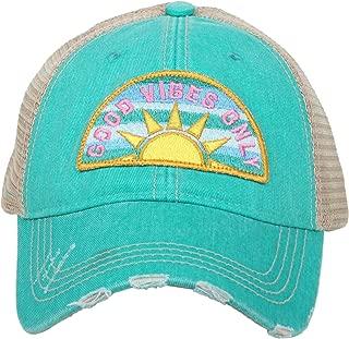 Womens Good Vibes Sunshine Patch Trucker Hat