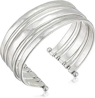 Lucky Brand Women's Large Silver Cuff Bracelet, Silver, One Size