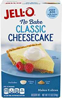 JELL-O No Bake Cheesecake Dessert (11.1 oz Box) (Pack of 6)