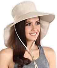 Sun Hat for Women - UV Protection Hiking & Gardening/Garden Hat - Wide Brim Summer Cap for Safari, Fishing, Beach Travels & Boating - Packable & Foldable Outdoor Shade Hat - Blocks 95%+ of UV Rays