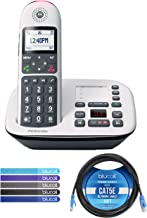 $44 » Motorola CD5011 DECT 6.0 Cordless Phone with Digital Answering Machine, Call Block, and 10dB Amplification Bundle with Blu...