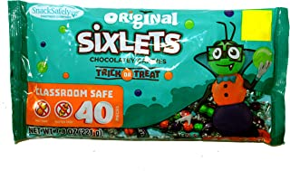 SweetWorks (1) Bag Sixlets Original Trick Or Treat Chocolatey Candies - 40 Individually Wrapped Pieces - Perfect For Halloween Classroom Candy Exchange - Net Wt. 7.8 oz