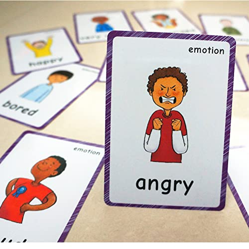 photograph relating to Free Printable Emotions Flashcards identify Experience Playing cards:
