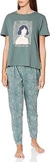 women'secret Women's Short Sleeves Long Pant Pyjama Pyjama Set
