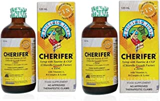 CHERIFER FORTE Syrup w/ Taurine & Double Chlorella Growth Factor + Zinc 120ml (PACK OF 2 BOTTLES)