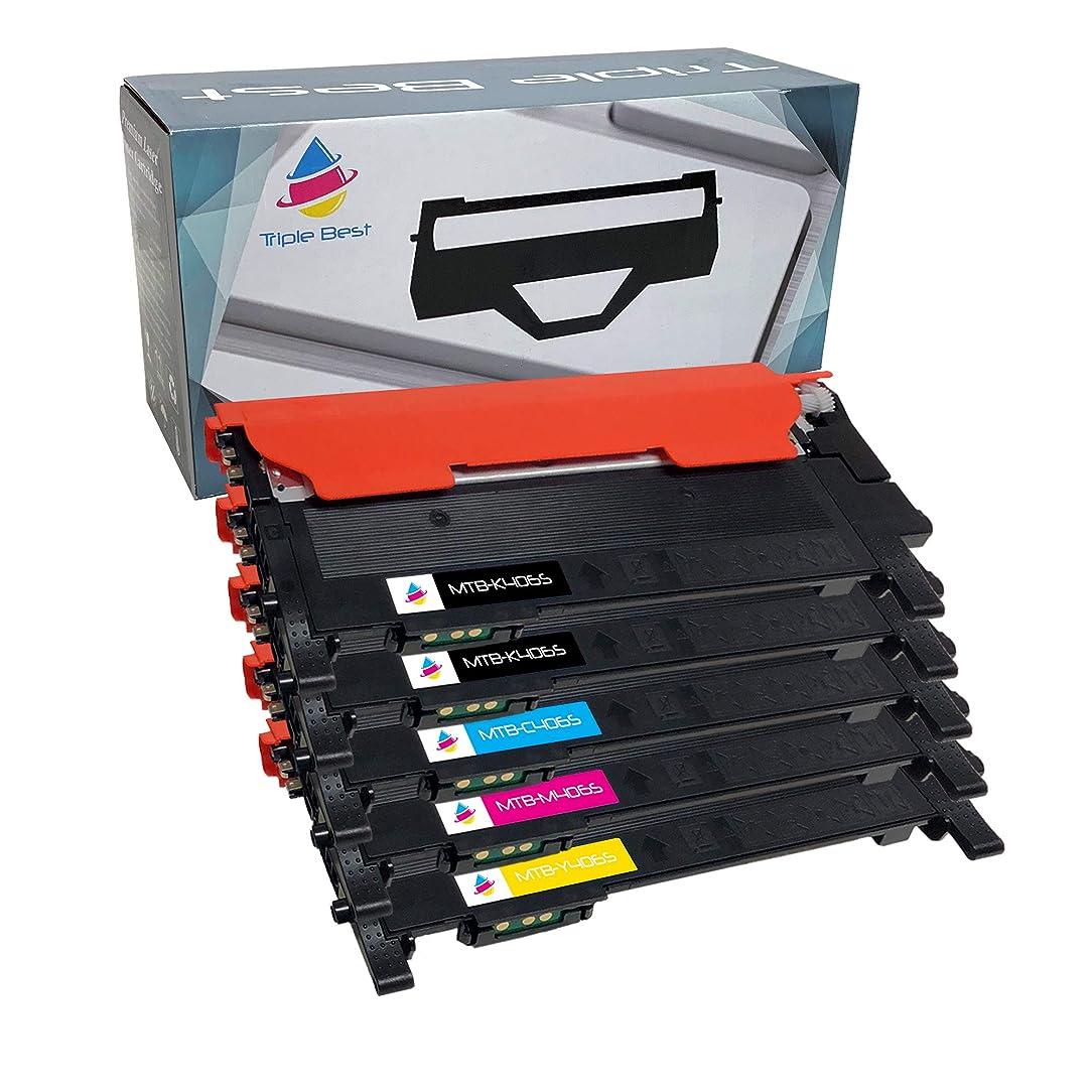 Triple Best Set of 5 Compatible 406 Series Laser Toner Cartridges for Samsung CLT-K406S CLT-C406S CLT-M406S CLT-Y406S Toner Cartridges Used with Samsung Xpress C410W C460FW CLP-365 CLX-3305 CLP-360
