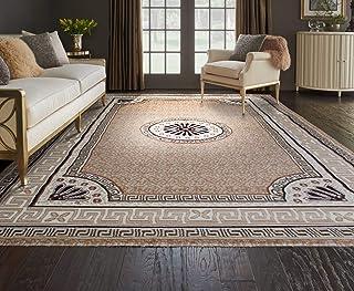 Al Salem Carpet Super Sabah Collection Carpet Classic Tradition Area Rug 230 CM X 320 CM Beige