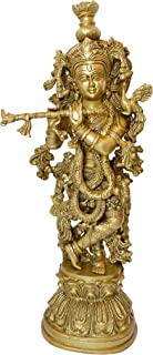 Handecor Two Moustaches Brass Murli Krishna Statue