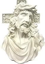 Bellaa 22670 Jesus Cross Statue Bust Tabletop Sculpture Amen Christ 7 inch