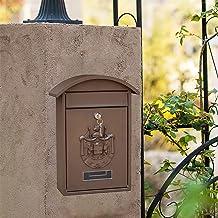 LQJin Vintage Mailbox Afsluitbare Mail Box 26x10x36cm 2 Sleutels Drop Box Suggestie Box (Kleur: Bruin)