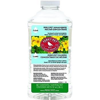 Perky-Pet 238CL Clear Hummingbird Nectar 32 oz Concentrate – Makes 128 fl oz