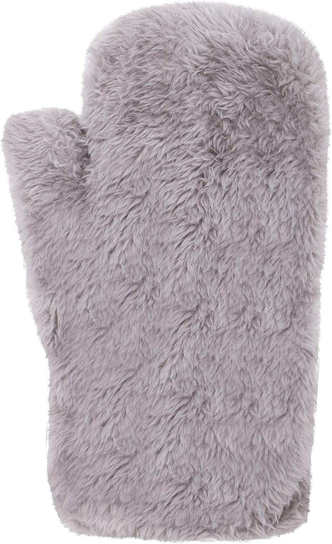 Kid's Girls Boys Furry Cuff Sherpa Lined Mitten Gloves - 3 Pairs Winter Set