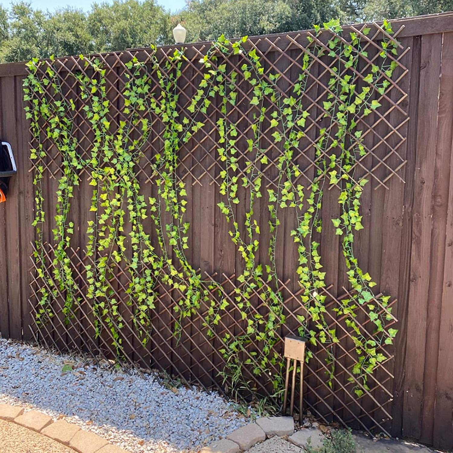 Expandable Garden Trellis Plant Support Willow Lattice Fence Panel for  Climbing Plants Vine Ivy Rose Cucumbers Clematis 20X20 Inch