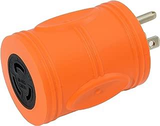 AC WORKS [AD515L515] Locking Adapter Household 15Amp 5-15P Plug to Locking 15Amp L5-15R Female Connector (Orange)