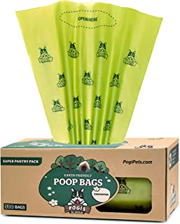 Pogi's Poop Bags - 500 Unscented Grab & Go Dog Poo Bags - Leak-Proof, Biodegradable Poo Bags for Dogs