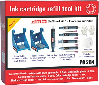 Red Star Brand Canon 245 246 210 211 240 241 Black & Color Ink Cartridge Refill Tool kit