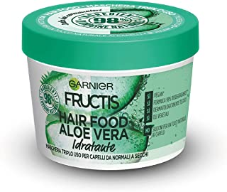 Garnier Maschera Idratante Fructis Hair Food, Maschera Riparatrice 3 in 1 con Formula Vegana per Capelli normali, Aloe, 39...