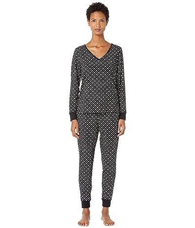 Kate Spade New York Brushed Jersey Long Pajama Set (Love Dot) Women