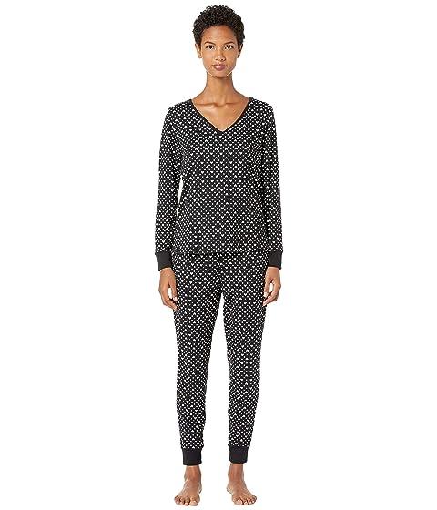 Kate Spade New York Brushed Jersey Long Pajama Set
