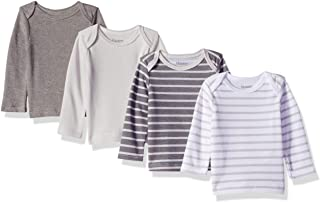 Hanes Ultimate Baby Flexy 4 Pack Long Sleeve Crew Tees