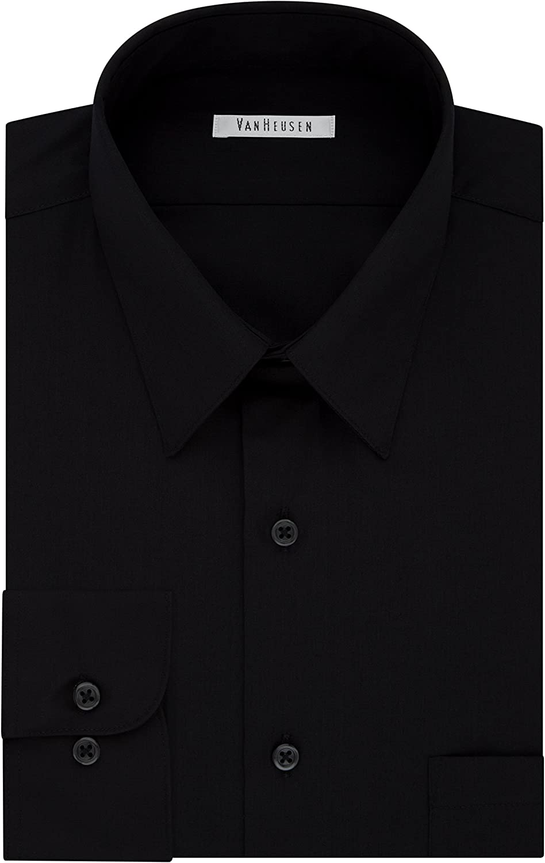 Van Heusen Men's BIG FIT Dress Shirts Poplin (Big and Tall)