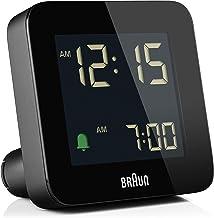 Braun Digital Alarm Clock with Snooze, Negative LCD Display, Quick Set, Crescendo beep Alarm in Black, Model BC09B