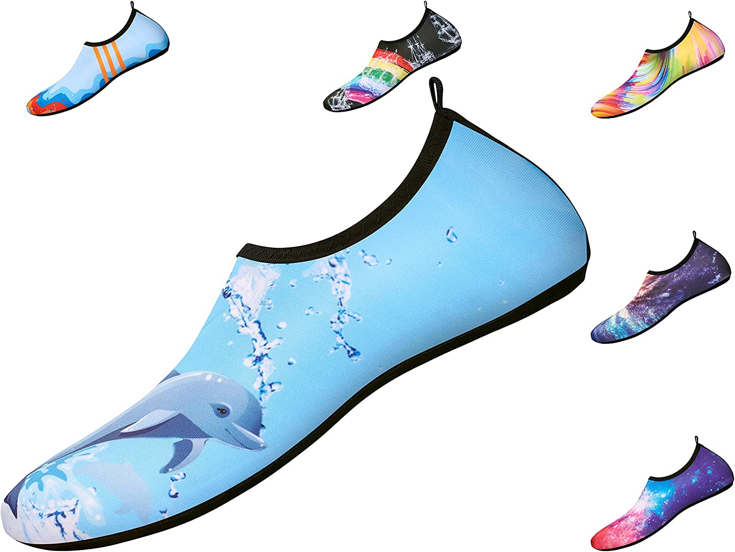 LAR-ME Water Shoes Barefoot Aqua Yoga Socks Quick-Dry Beach Swim Surf Shoes and Volleyball Shoes for Women and Men