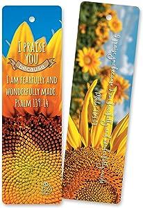 ON Sales! 60 pcs Christian Bible Verses Flower Bookmarks. Free Beauty EBOOK. Encouraging, Inspiration, Unique Design Bookmark.