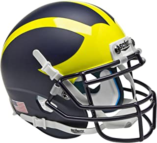 matte navy blue football helmet