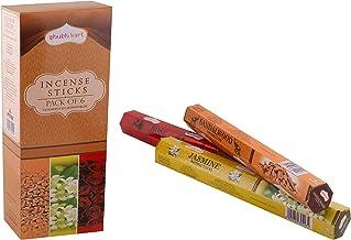 Shubhkart Assorted Pack Incense Sticks - (Pack of 6), Sandalwood, Jasmine, Rose