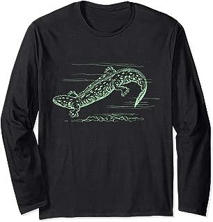 Cool Hellbender Salamander Graphic T-Shirt Biologist T Shirt