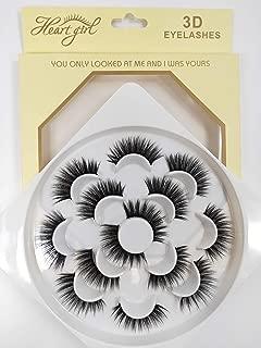 Faux Mink Fake Lashes, 3D False Eyelashes Handmade False Eyelashes Black Nature Fluffy Long Soft Reusable (7 Pairs) (SD05)
