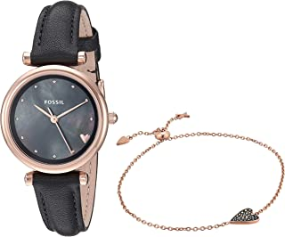 Fossil Women's Quartz Watch analog Display and Leather Strap, ES4506SET