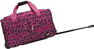 "Rockland 22"" Rolling Duffle Bag, Magenta Leopard (Pink) - PRD322"