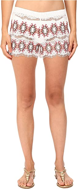 Kea Lace Embroidered Shorts