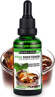 ALPHAPOWER FOOD® Flavour Drops, Vegan, flüssig - liquid 1x50ml Aroma Stevia Cola, Lebensmittel flavor Konzentrat & Geschma...