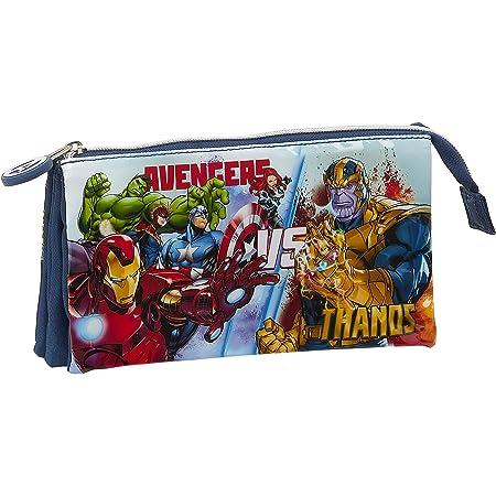Safta Portatodo Triple de Avengers Heroes Vs Thanos, 220x30x120mm, azul marino/multicolor