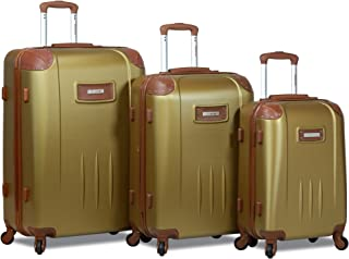 Dejuno Quest 3-Piece Hardside Spinner Luggage Set with Tsa Lock, Bronze