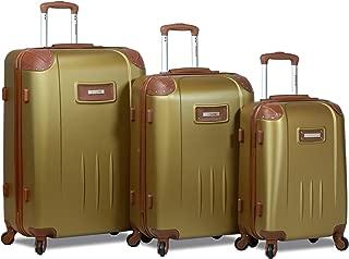 Dejuno Quest 3-Piece Hardside Spinner Luggage Set with Tsa Lock, Bronze