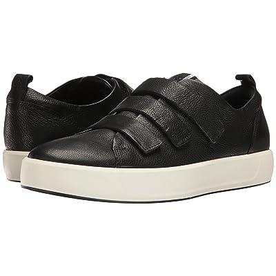 ECCO Soft 8 3-Strap (Black) Men